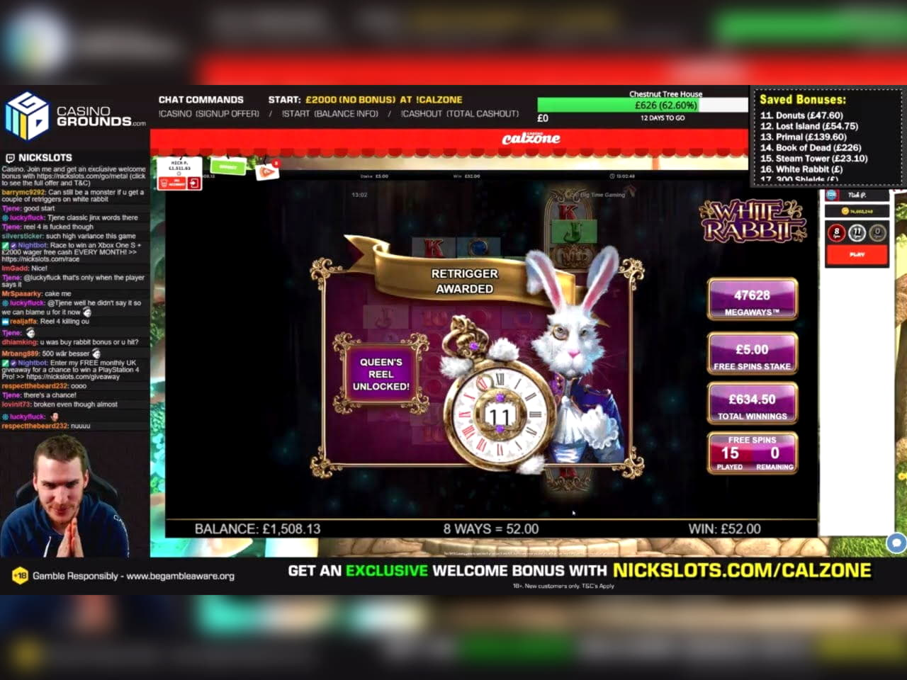 155 Free casino spins at King Billy Casino